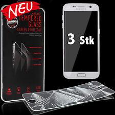 3x Samsung Galaxy S7 Panzerglasfolie Schutzfolie aus Echt Glas Schutzglas