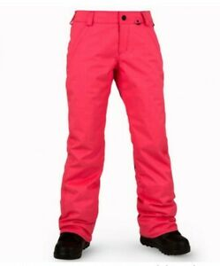 Volcom Frochickie Insulated Pant Snowboard Women Pink Size Larg RRP £189