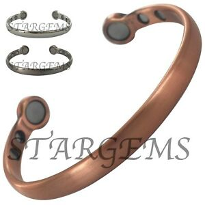 SUPER STRONG MENS PURE COPPER MAGNETIC BANGLE HIGH STRENGTH ARTHRITIS AID GIFT