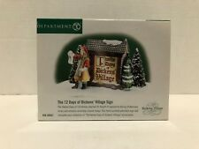 Dept 56 The Twelve Days of Dickens Village Sign Accessory Christmas 56.58467