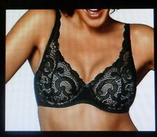 Playtex Love My Curves Lift Bra Size 44C Underwire Black Lace New w/tags