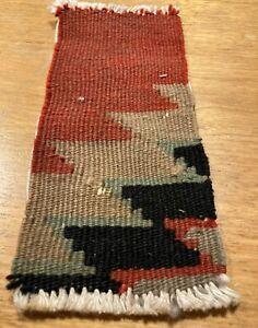 Antique Vintage Dollhouse Miniature Floor Coverings Carpet Handwoven Rug