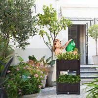 Plastic Garden Raised Bed Planter Kit Box for Flower Vegetable Grow 2/4 PCS