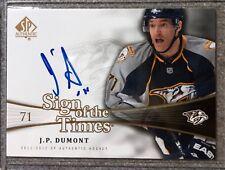 2011-12 SP Authentic Sign of the Times Auto J.P. Dumont Predators #SOT-JP