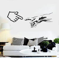 Vinyl Wall Decal Geek Art Funny The Creation of Adam Computer Stickers (ig4601)