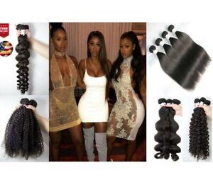 Malaysian 100%Human Virgin Remy Hair Bundle Straight/Loose/Body/Curl/Deep100g