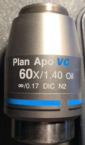 Nikon Plan Apo VC 60x/1.40 Oil Microscope Objective DIC N2