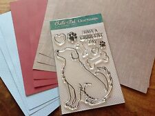 """Lelli-Bot Crafts ~ Doggies ~ Dog ~ A6 Stamps & 8"""" Paper Pack"""
