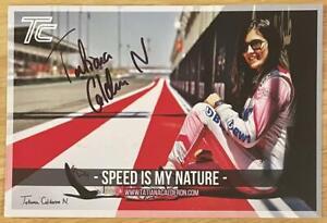 TATIANA CALDERON, 100% AUTHENTIC AUTOGRAPHED PHOTO, RACING SUPERSTAR !