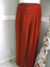 Terracotta Wide Leg Palazzo Trousers Size 10 New