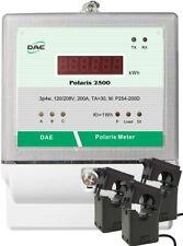 DAE P254-200D KIT, UL kWh Submeter, 3P4W, 200A,120/208v,3 Split CT, RS485,Demand