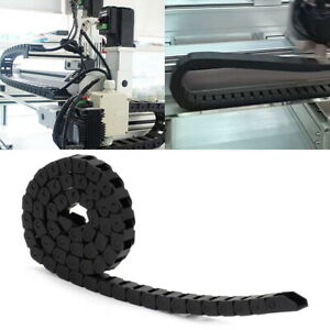 1M Drag Chain Nylon Plastic Cable Wire Carrier R18 Towline for 3D Printer CNC
