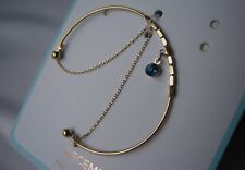 Topshop Freedom Bracelet Gold tone NEW Birth Month December Happy and Lucky Blue
