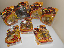 HASBRO 2008 INDIANA JONES RAIDERS OF THE LOST ARK LOT OF 7 FIGURES MOC TEMPLE PI