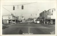 Monroe WA Street Scene Ellis 6601 Real Photo Postcard