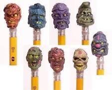 "ZOMBIE PLANET Pencil Toppers Set 8 Figures Party Favors 1"" Zombies Walking Dead"