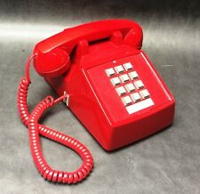 Cortelco Red Push Button Desk Telephone 250047
