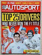 Autosport magazine 16th January 2014