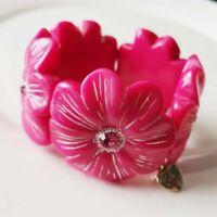 New Betsey Johnson Flower Elastic Bracelet Fashion Women Jewelry 2Colors Chosen