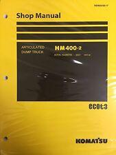 Komatsu HM400-2 Shop Service Manual Articulated Dump Truck