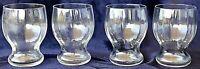 4 vintage retro schnaps port liqueur glasses 150ml