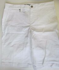 NWT Ralph Lauren L-RL Active Seersucker Bermuda Shorts White Size 6