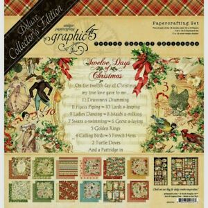 Graphic 45 Deluxe Collector's Edition Paper Crafting Set 12 Days Of Christmas