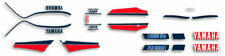 1985 Yamaha RZ350 Complete Decals Pin Striping Set - Red/White