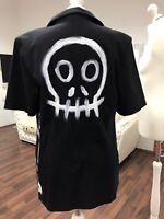 Blazer Sakko Jacke 38 M COAT UNIKAT designer Totenkopf skull dark gothic Witch 1
