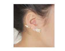 Arrow ear cuff  gold studded earring