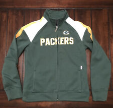 NFL Football Green Bay Packers Women's Full Zipper Reebok Sweatshirt Medium
