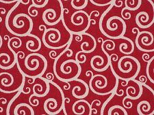 Braemore MINI CARTWHEEL SCARLET Red Swirl Home Decor Drapery Sewing Fabric BTY