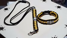Pittsburgh Steelers Handmade Paracord Bracelet and Lanyard Sport Set