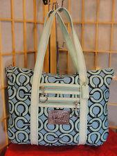 COACH Poppy Op Art Signature Tote Handbag Shoulder Purse Bag DEFECT