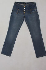 DENNY ROSE Vita Alta Denim Jeans Slim Straight Fit Stretch Blu XS W26 UK8