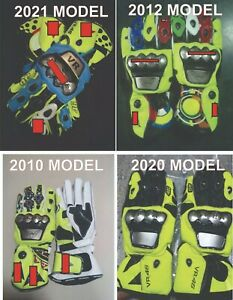 Valentino Rossi Motorbike Leather Racing Gloves .
