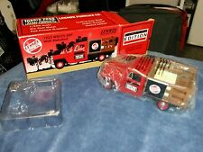 1953 JEEP WILLY'S Stakebed Truck Die Cast METAL Bank Lennox Furnace Co.