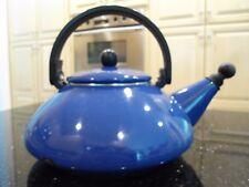 "Le Creuset Blue Enamel on Steel ""Zen"" Whistling Tea Kettle 1.6 Quarts"
