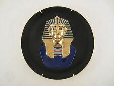 HATSHEPSUT BÜSTE WAND TELLER PORZELLAN Nr. 12921 A 22 Kt CARAT GOLD ÄGYPTEN 1993