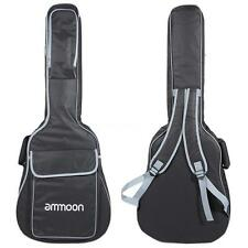 "ammoon 40"" 41"" Guitar 600D 12mm Padded Big Case Cover Bag Backpack Straps Z1L5"