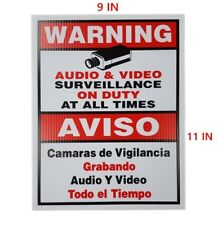 CCTV WARNING SECURITY SIGN BOARD SURVEILLANCE CAMERA CORRUGATED PLASTIC