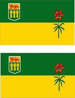 2x Adhesivo adesivi pegatina sticker vinilo bandera canada saskatchewan