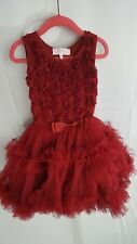 Toddler Girl Popatu Red Tutu Petti skirt Dress  Size XS 2T/3T   A4