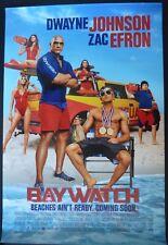 BAYWATCH  2017 CINEMA 1 SHEET POSTER DWAYNE JOHNSON ZAC EFRON ALEXANDRA DADDARIO