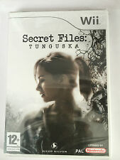 Secret files: TUNGUSKA pour nintendo wii (new & sealed)