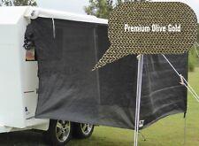 PREMIUM Jayco / Coromal Camper Bagged Bed Flys (both ends) - Olive Gold