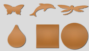 Copper Blanks for Jewellery Making Metal Stamping Engraving Variety of Shapes