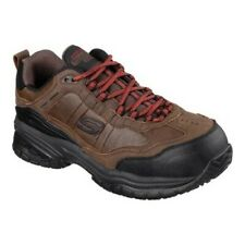 Skechers Hombre Trabajo Relaxed Fit Soft Stride constructor II ST Marrón oscuro Talla