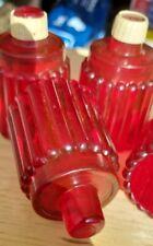 42 Vtg Red Smooth Cut Votive Globes w/ Grommets Vintage Homco Home Interiors