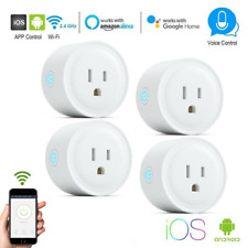 4 x Wifi Smart Plug Remote Control Socket Outlet Switch  Google Home Alexa Echo